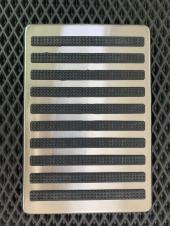 Подпятник металлический прорезиненный (нержавейка)