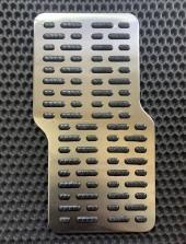 Подпятник металлический прорезиненный фигурный (нержавейка)