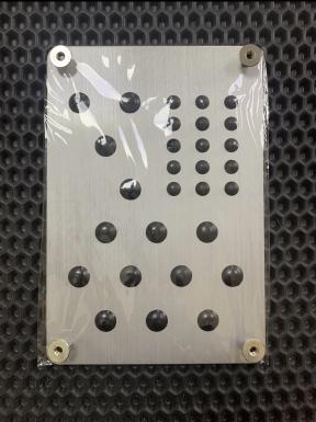 Подпятник металлический прямоугольный (нержавейка)