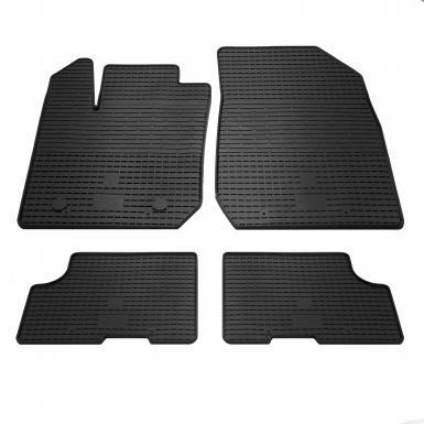 Комплект резиновых ковриков в салон автомобиля Renault Logan 2013-