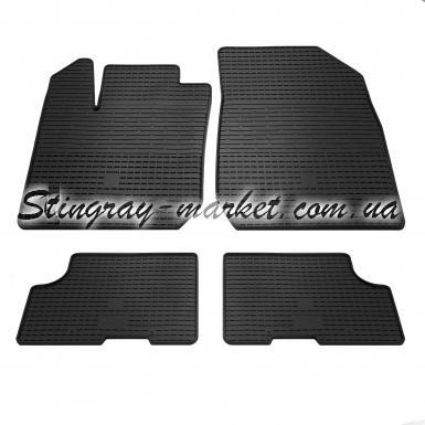 Комплект резиновых ковриков в салон автомобиля Dacia Logan 2013-