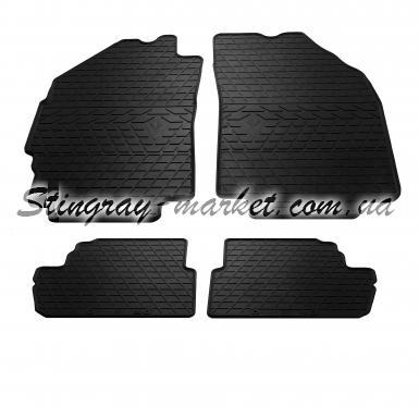 Комплект резиновых ковриков в салон автомобиля Chevrolet Spark M300 2009-