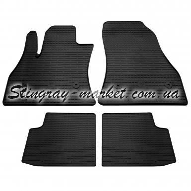 Комплект резиновых ковриков в салон автомобиля Fiat 500L 2012-2020