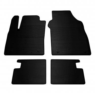 Комплект резиновых ковриков в салон автомобиля Fiat 500 2007-