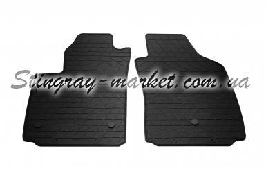 Передние автомобильные резиновые коврики Fiat 500 electric 2012-