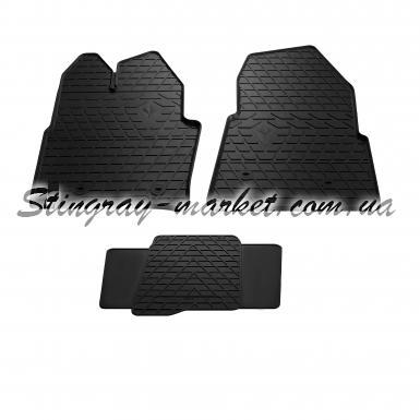 Комплект резиновых ковриков в салон автомобиля Ford Transit 2014-