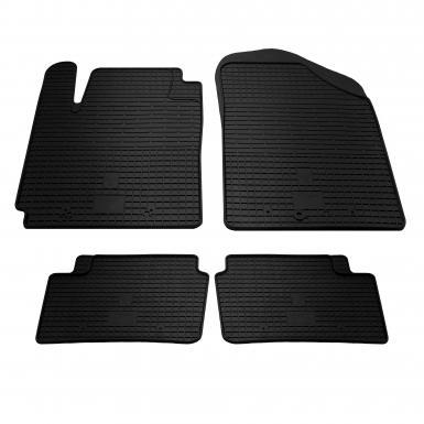 Комплект резиновых ковриков в салон автомобиля Kia Picanto 2011-