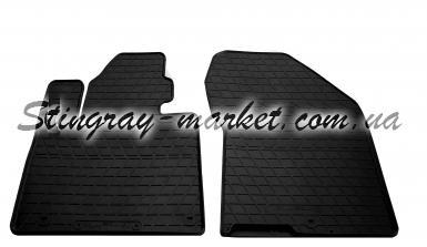 Передние автомобильные резиновые коврики Hyundai Santa Fe 2018-