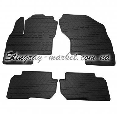 Комплект резиновых ковриков в салон автомобиля Mitsubishi Outlander PHEV 2013-