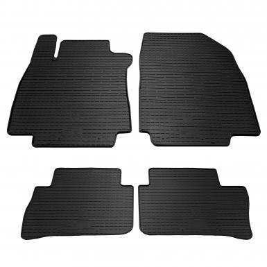 Комплект резиновых ковриков в салон автомобиля Nissan Tiida
