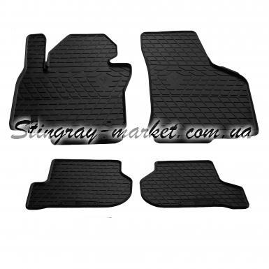 Комплект резиновых ковриков в салон автомобиля Volkswagen Golf 6 2009-