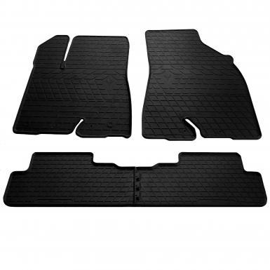 Комплект резиновых ковриков в салон автомобиля Toyota Highlander (XU50) 2014-2019