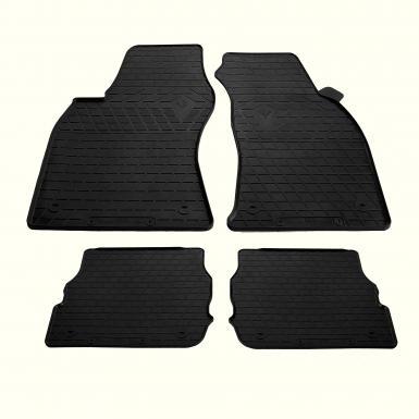 Комплект резиновых ковриков в салон автомобиля AUDI A6 (C5) 1997- (design 2016)