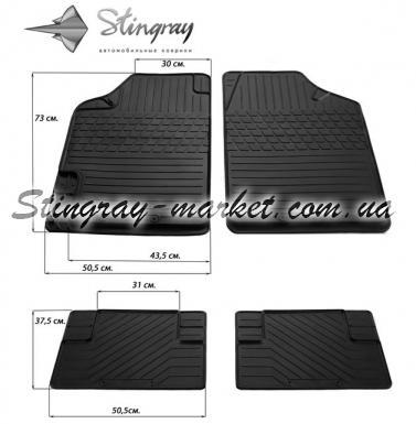 Комплект универсальных резиновых ковриков в салон автомобиля Variant II