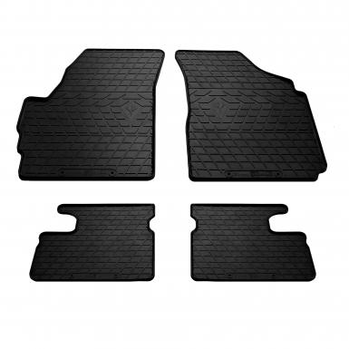 Комплект резиновых ковриков в салон автомобиля Chevrolet Spark (design 2016)