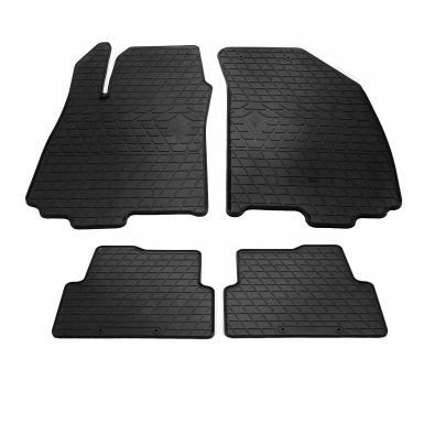 Комплект резиновых ковриков в салон автомобиля Chevrolet Aveo (T300) 11- (design 2016)