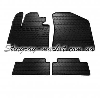 Комплект резиновых ковриков в салон автомобиля Kia Soul 2013-