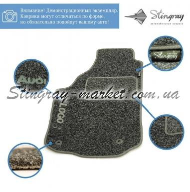 Комплект текстильных ковриков Stingray Ciak Black/Grey в салон автомобиля NISSAN / ALMERA (N-16) / 2000-2006