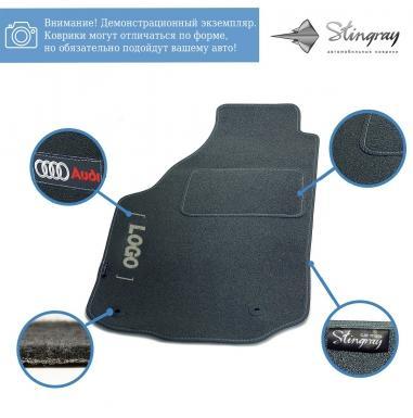 Комплект ворсовых ковриков Stingray Ciak Grey в салон автомобиля SKODA / FABIA / 2000-2007