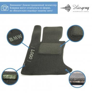 Комплект ворсовых ковриков Stingray Fortuna Black/Grey в салон автомобиля KIA / SORENTO EX МКП / 2002 - 2009