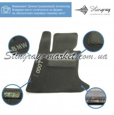 Комплект ворсовых ковриков Stingray Fortuna Black/Grey в салон автомобиля PEUGEOT / 107 / 2005