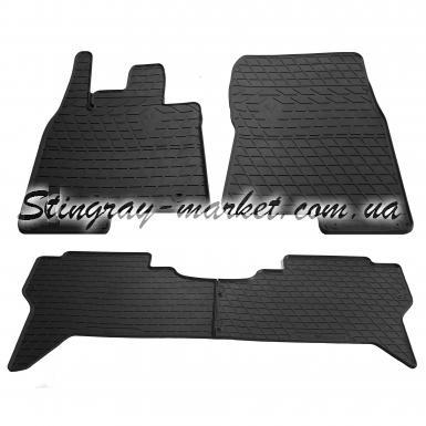 Комплект резиновых ковриков в салон автомобиля Mitsubishi Pajero IV (V80) 2006-