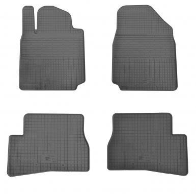 Комплект резиновых ковриков в салон автомобиля Nissan Micra K12 2013-