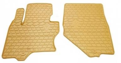 Передние автомобильные резиновые коврики Infiniti FX (s51) бежевые