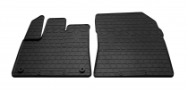 Передние автомобильные резиновые коврики Citroen Berlingo 2018- (овальная клипса)