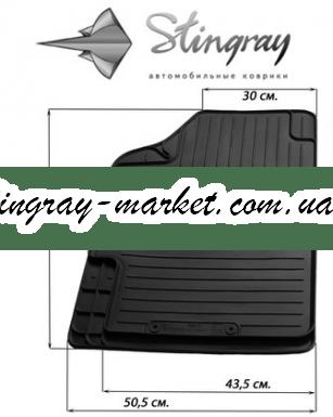 Водительский автомобильный универсальный резиновый коврик Variant II