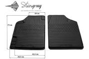 Передние автомобильные универсальные резиновые коврики Variant II