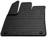 Водительский резиновый коврик Peugeot Rifter 2018- (овальная клипса)