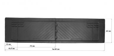 Задние автомобильные универсальные резиновые коврики Uni Twin (1600x440)