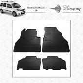 Комплект резиновых ковриков в салон автомобиля Renault Kangoo 2008-